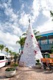 Arbre de Noël, motocyclettes de sirènes dans Cozumel, Mexique Photos stock