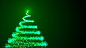 arbre de Noël noir de fond Rendu 3d coloré illustration stock