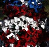 Arbre de Noël patriotique à Fort Myers, la Floride, Etats-Unis Photo stock