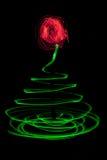 Arbre de Noël peint par lumière Image stock