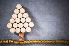 Arbre de Noël pour l'amateur de vin, liège naturel de vin Image libre de droits