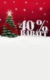 Arbre de Noël remise de Rabatt de 40 pour cent Photo libre de droits
