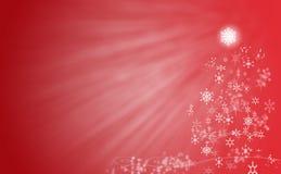 Arbre de Noël rouge Photos stock