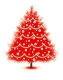 Arbre de Noël rouge Photo libre de droits