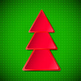 Arbre de Noël rouge Photos libres de droits