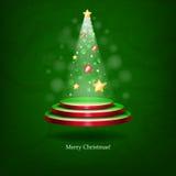 Arbre de Noël rougeoyant. Images stock