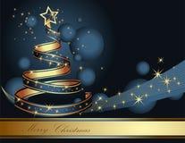 Arbre de Noël stylisé de ruban illustration stock