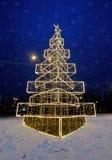 Arbre de Noël sur la rue Photos libres de droits