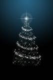 Arbre de Noël sur le fond bleu illustration de vecteur
