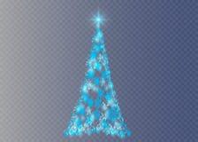 Arbre de Noël sur le fond transparent Photos stock