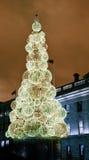 Arbre de Noël sur les strets de Dublin, Irlande Photographie stock