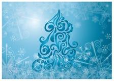 Arbre de Noël sur un fond illustration de vecteur