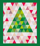 Arbre de Noël sur un fond coloré Photographie stock