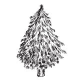 Arbre de Noël tiré par la main illustration libre de droits