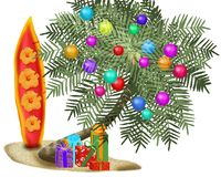 Arbre de Noël tropical illustration stock