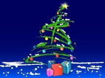 Arbre de Noël (vecteur) illustration de vecteur