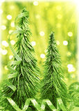 Arbre de Noël vert Images libres de droits