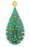 Arbre de Noël vert décoratif d'isolement Illustration Stock