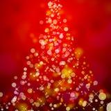 Arbre de Noël abstrait Photographie stock