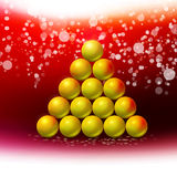 Arbre de Noël abstrait au fond rouge d'hiver Photographie stock libre de droits