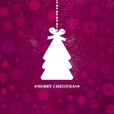 Arbre de Noël bleu décoré. ENV 8 Image stock