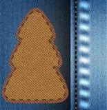 Arbre de Noël de jeans Images stock