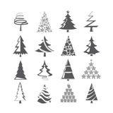 Arbre de Noël, ensemble d'arbre de MAS de X Image stock
