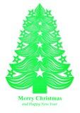 Arbre de Noël fait de papier - vert Images libres de droits