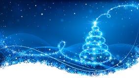 Arbre de Noël magique Photographie stock libre de droits