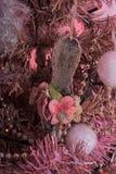Arbre de Noël rose Images libres de droits