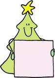 arbre de nom de Noël d'insigne Photos stock