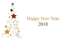 Arbre 2018 de nouvelle année Photo stock