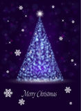 Arbre de nouvelle année des étincelles un fond de Noël Images libres de droits