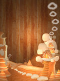 Arbre de pain dans l'espace de congé pour le texte Image libre de droits