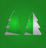 Arbre de papier de coupe-circuit de Noël, fond minimal Photographie stock