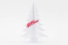 Arbre de papier de Noël Photo stock