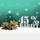 Arbre de pinecone de Noël remise de Rabatt de 45 pour cent Image stock