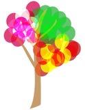 arbre de 4 saisons. Image stock