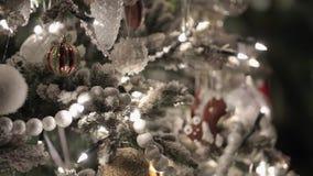 Arbre de sapin de Christmass banque de vidéos