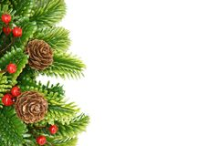 Arbre de sapin de Noël avec la décoration Photo stock