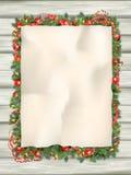 Arbre de sapin de Noël avec le papier ENV 10 Image stock