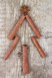 Arbre de sapin fait à partir des épices Photographie stock libre de droits