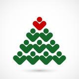 Arbre de social de Noël Images stock