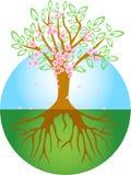 arbre de source illustration de vecteur