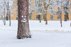 Arbre de sourire sur Noël photos stock