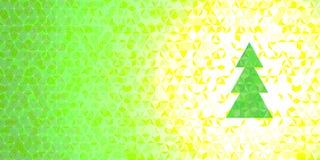 Arbre de triangle de Noël de vecteur Image libre de droits