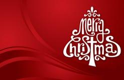 Arbre de typographie de Noël image libre de droits