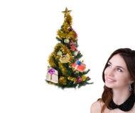 Arbre de vacances Joyeux Noël Photographie stock