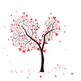 Arbre de Valentine Photo stock