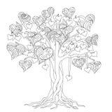 Arbre de zen de l'amour illustration de vecteur